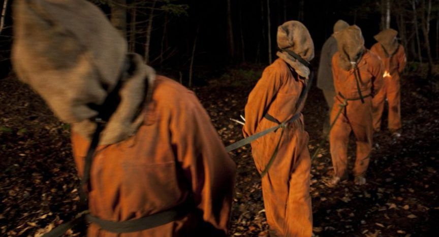 The movie directed by Olivier Abbou in which five friends are captured and tortured.
