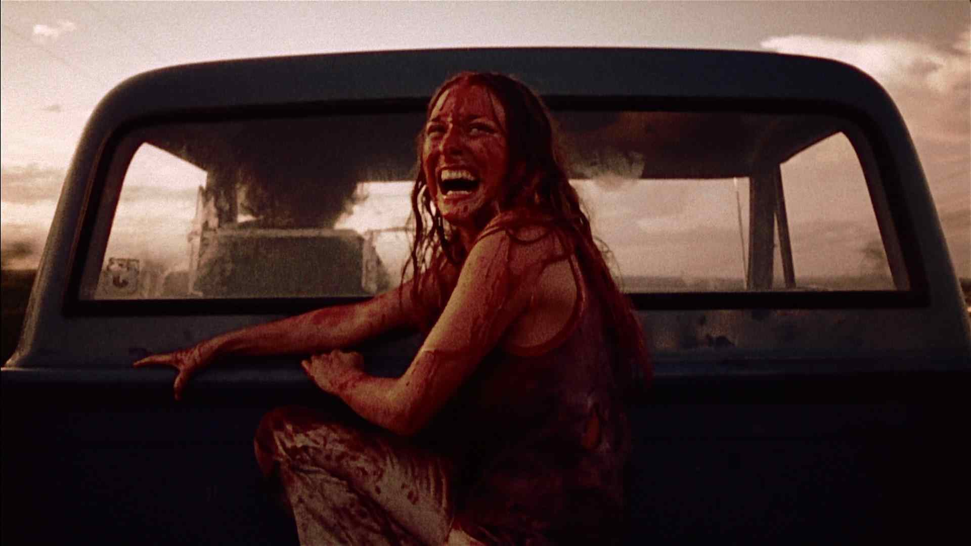 Marilyn Burns who plays Sally Hardesty in the hit horror The Texas Chainsaw Massacre.