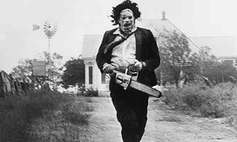 Leatherface. The popular Texas Chainsaw Massacre movie directed by Tobe Hooper.