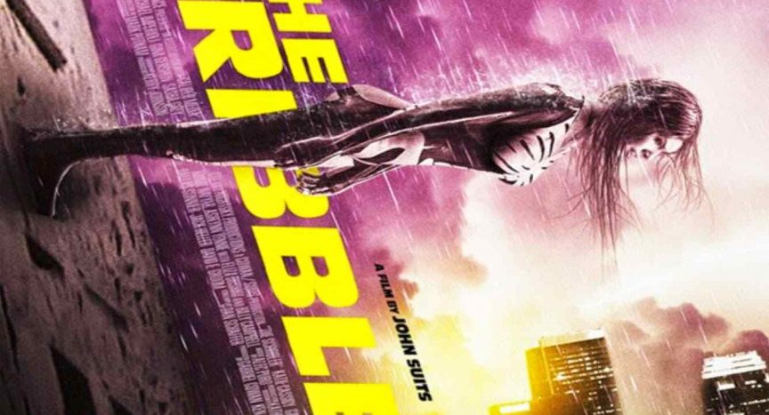 Blu-ray cover art for the film The Scribbler.