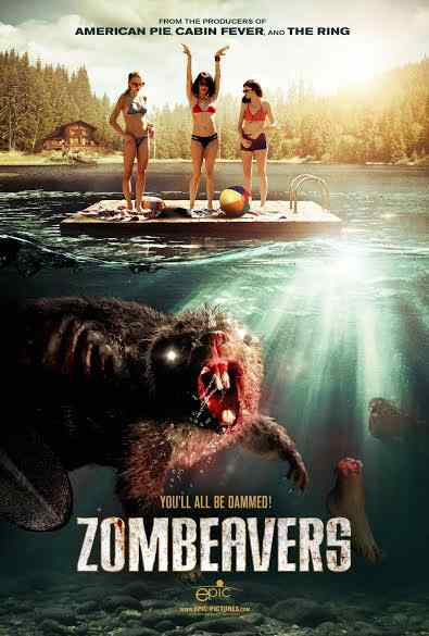 The poster for the upcoming Jordan Rubin feature film Zombeavers.