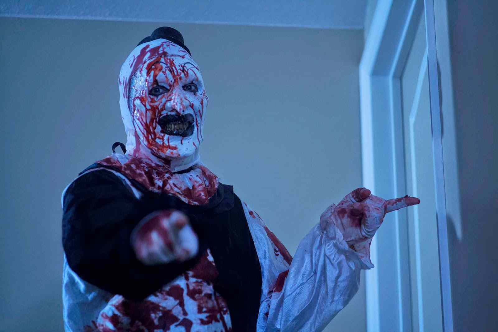art the clown from the terrifier movie.