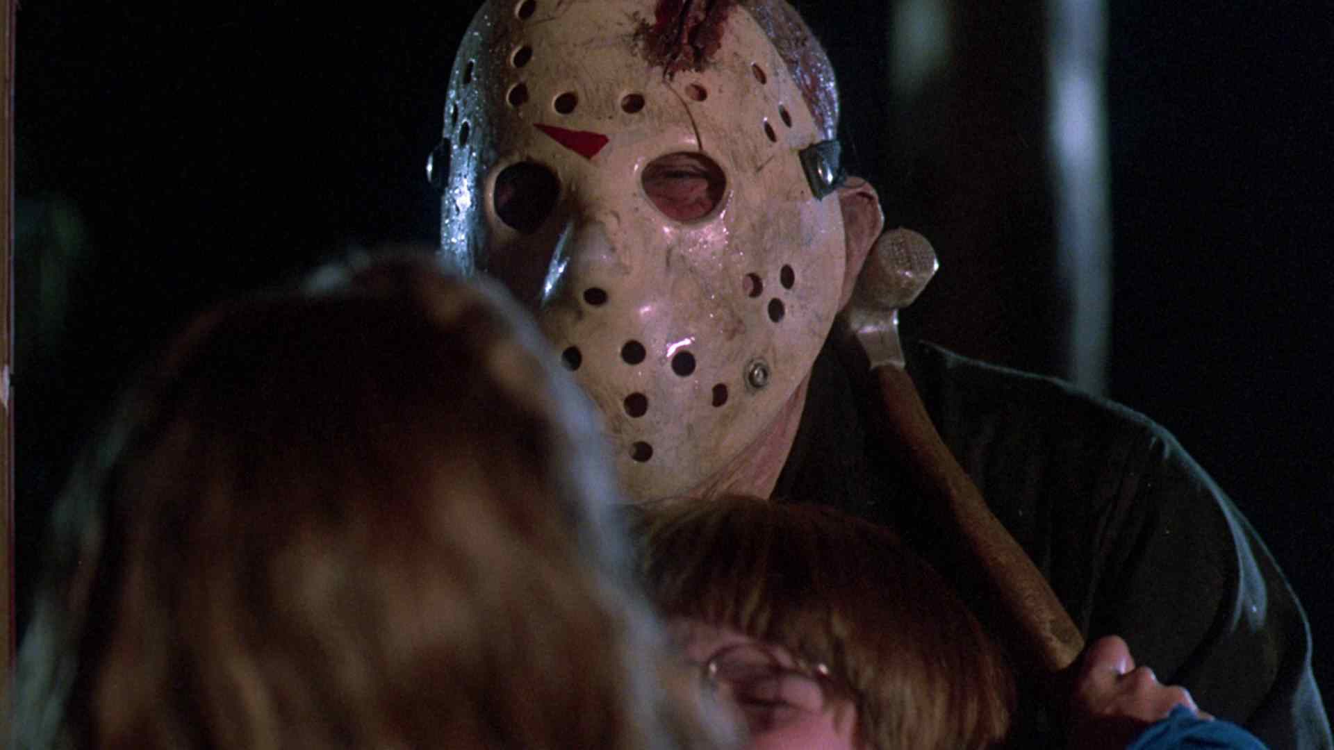 Trish nails Jason in Friday the 13th - The Final Chapter