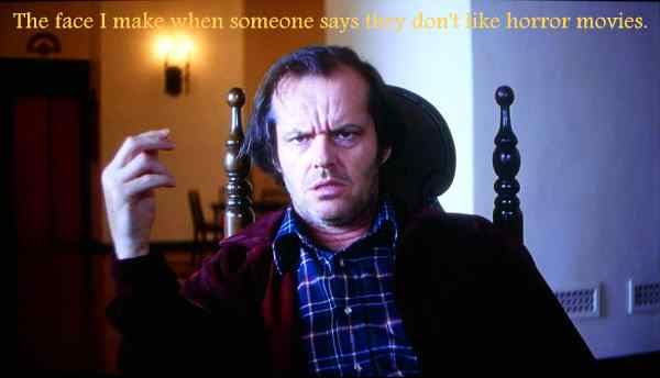 Jack Nicholson from the hit movie The Shining written by Stephen King and directed by Stanley Kubrick.