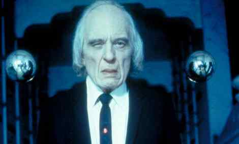 Angus Scrimm the tall man.