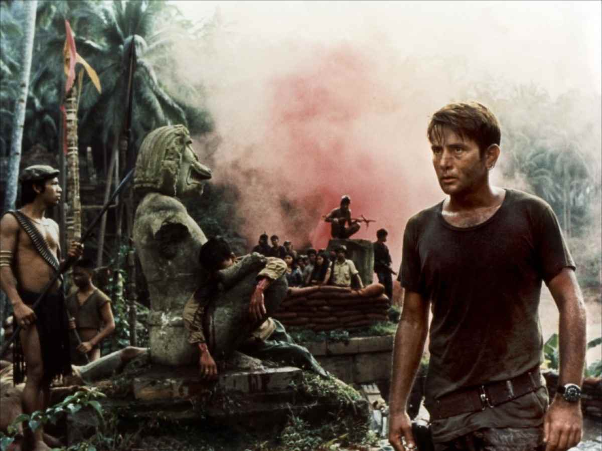Martin Sheen sees the horrors of war in Apocalypse Now.
