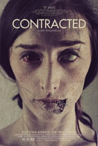 A poster for Eric England's Contracted.