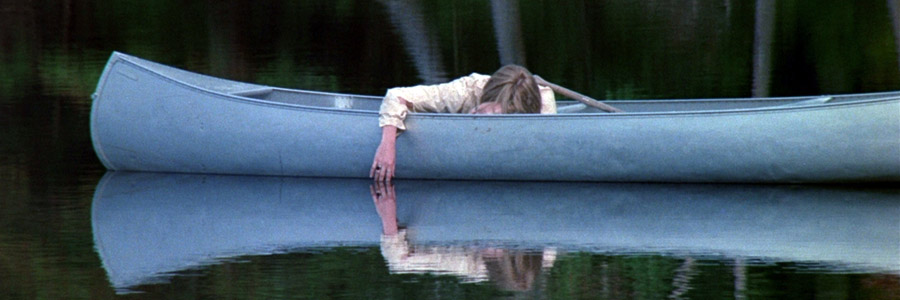 Canoeing in Crystal Lake in the original Friday the 13th.