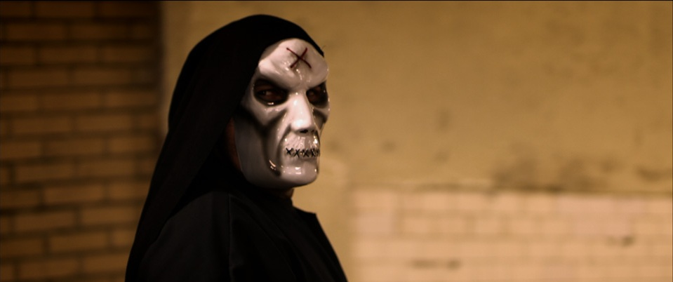 Mysterious masked man from the religious slasher 36 Saints.
