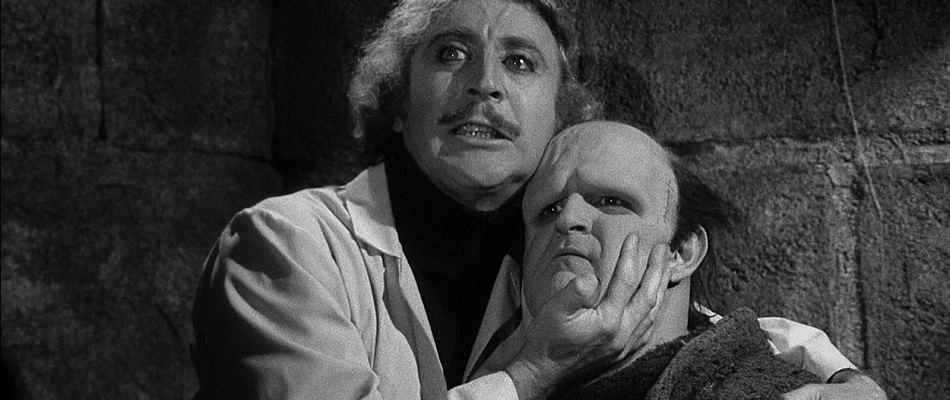 Young Frankenstein and his Monster in Young Frankenstein.