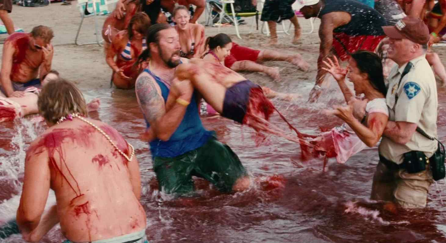 The spring break massacre in 2010's Piranha.