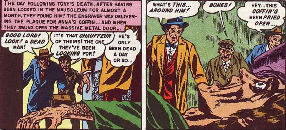 Shocking reveal from Tales from the Crypt #23, Last Respects.