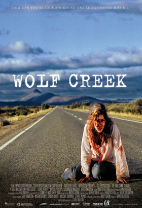 Wolf Creek poster. Australian Horror