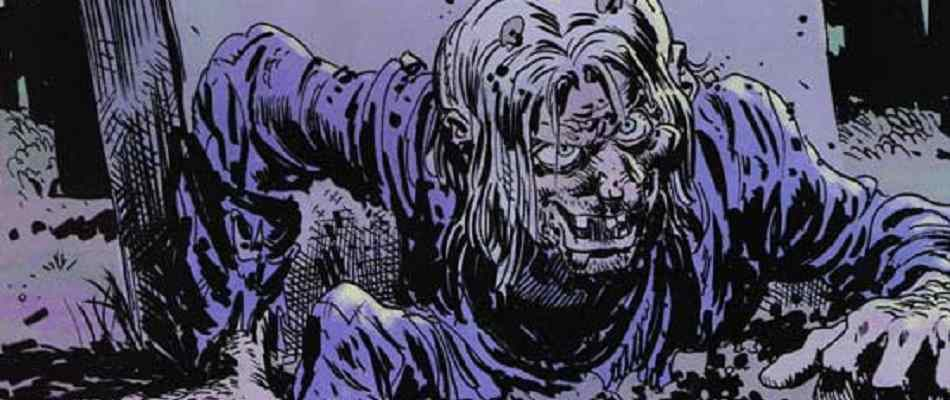 Papercutz Comics Tales from the Crypt #1 shows the Crypt-Keeper rising from the dead.