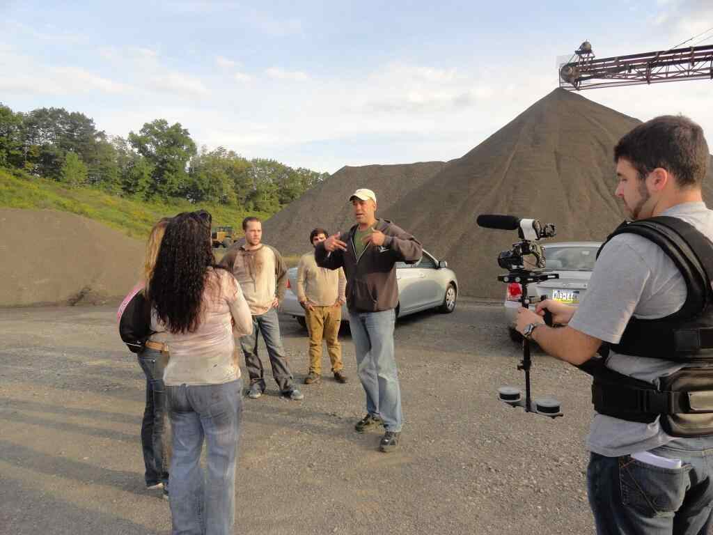 Harrison Smith directing his cast in Zombie Killers: Elephants Graveyard.