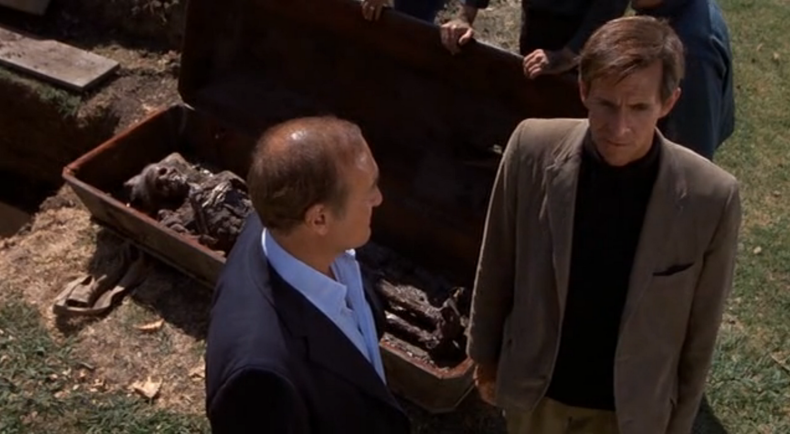 Norman at the graveyard in Psycho II
