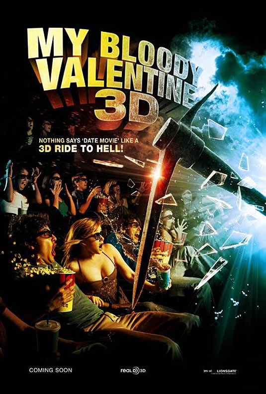 My Bloody Valentine 3D Movie Poster.