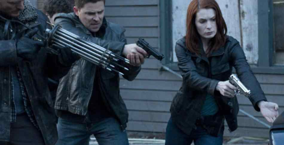 Felicia Day as a modern day Red Riding Hood in Red: Werewolf Hunter from 2010.