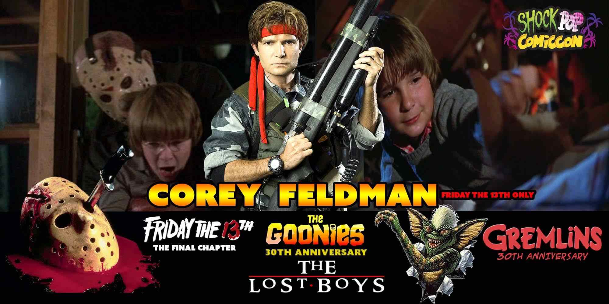 banner for actor Corey Feldman