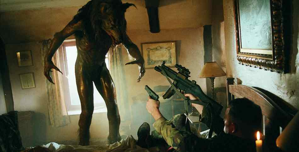 Soldiers versus werewolves in 2002's Dog Soldiers.