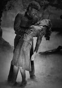 Lon Chaney in Universal's famous werewolf movie The Wolfman from 1941,