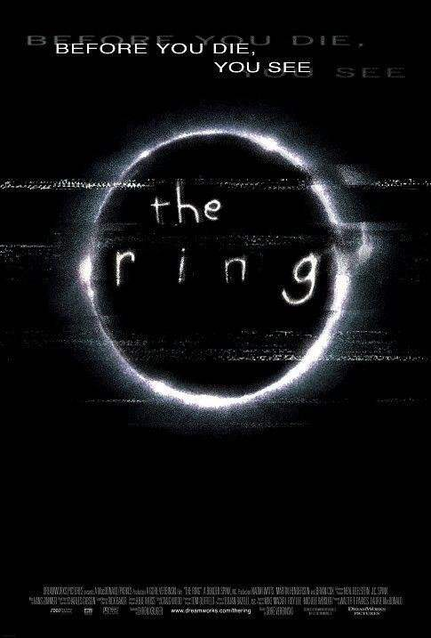 The Ring movie poster. Rings