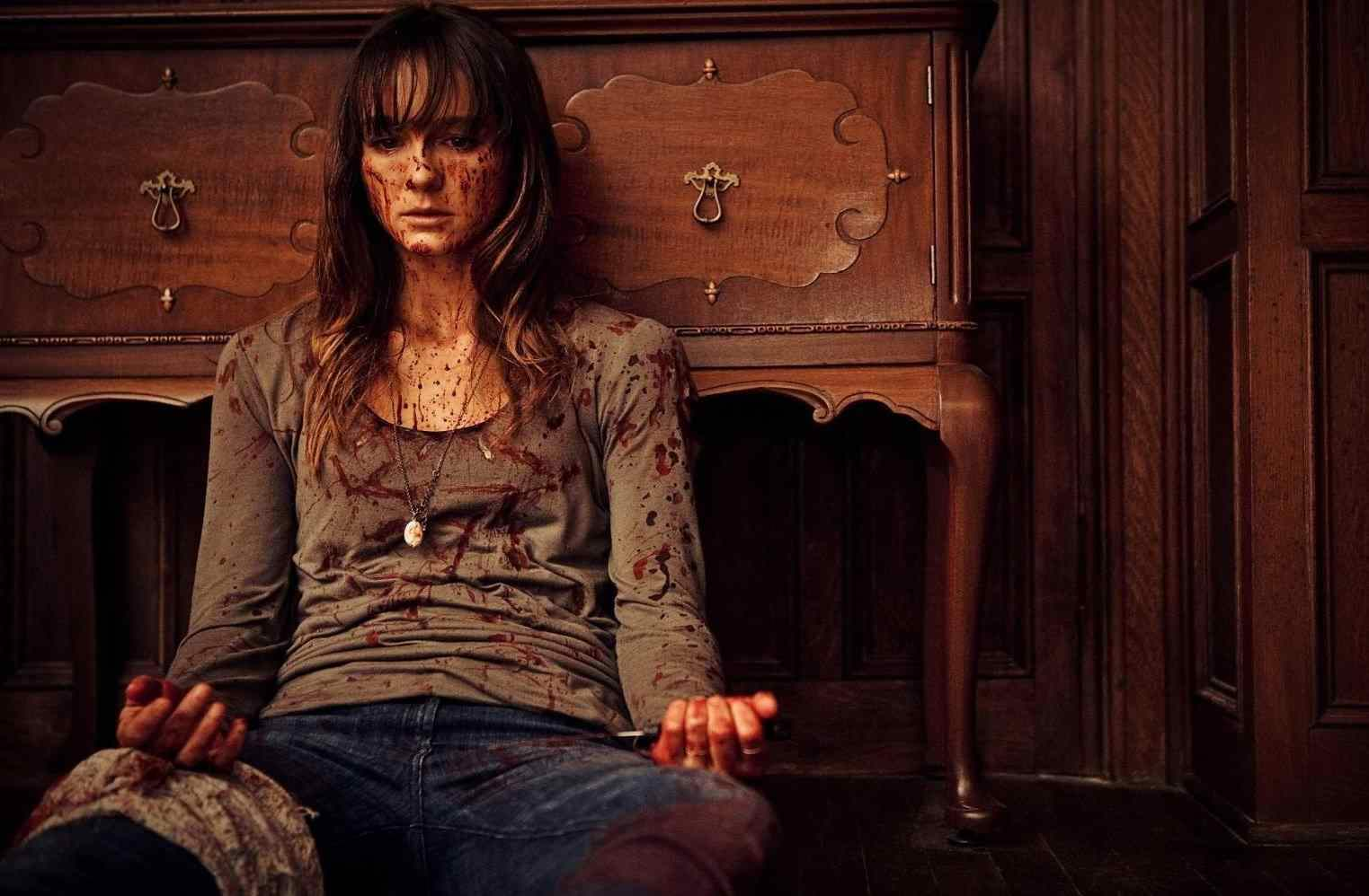 A bloody Erin takes a break in You're Next
