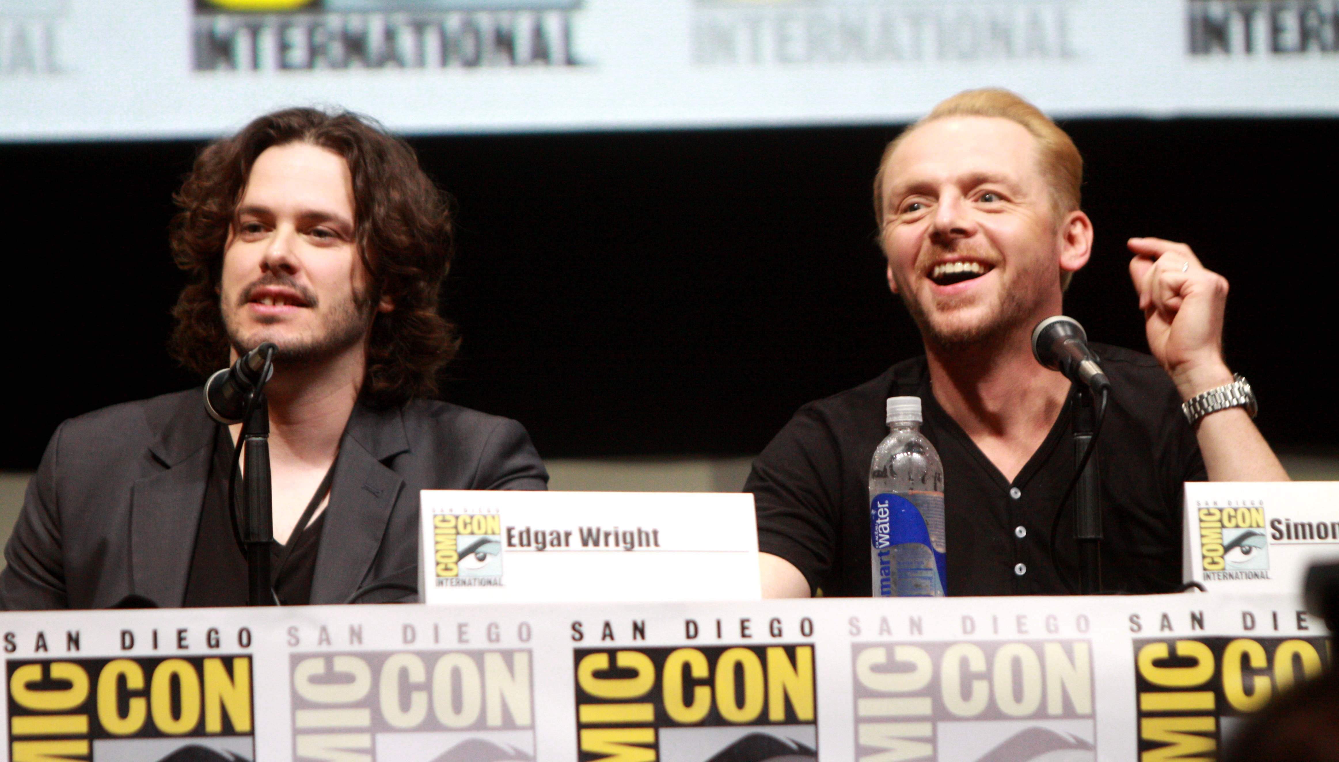 Edgar Wright and Simon Pegg, creators of the popular Cornetto Trilogy