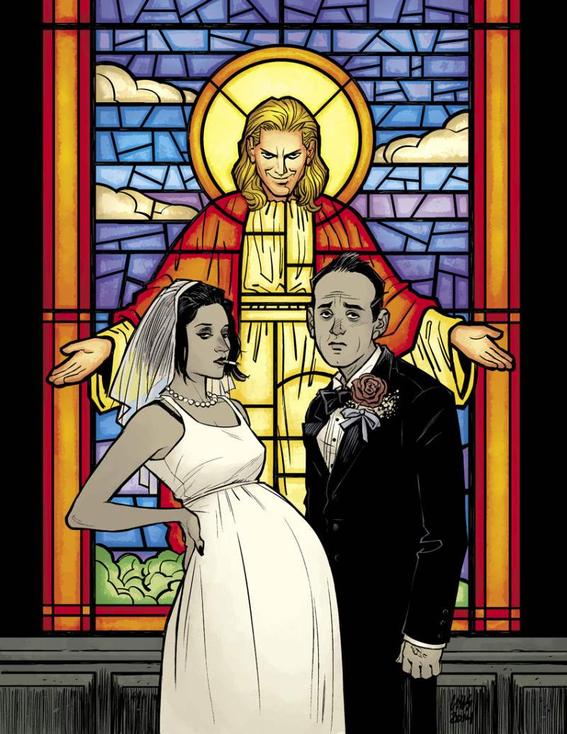 Marla and Sebastian married in a flashback of Fight Club 2, issue 1.