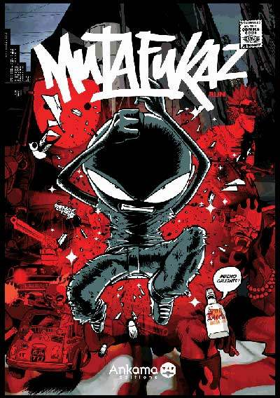 Cover art for the first volume of Run's French hit comic, Mutafukaz.