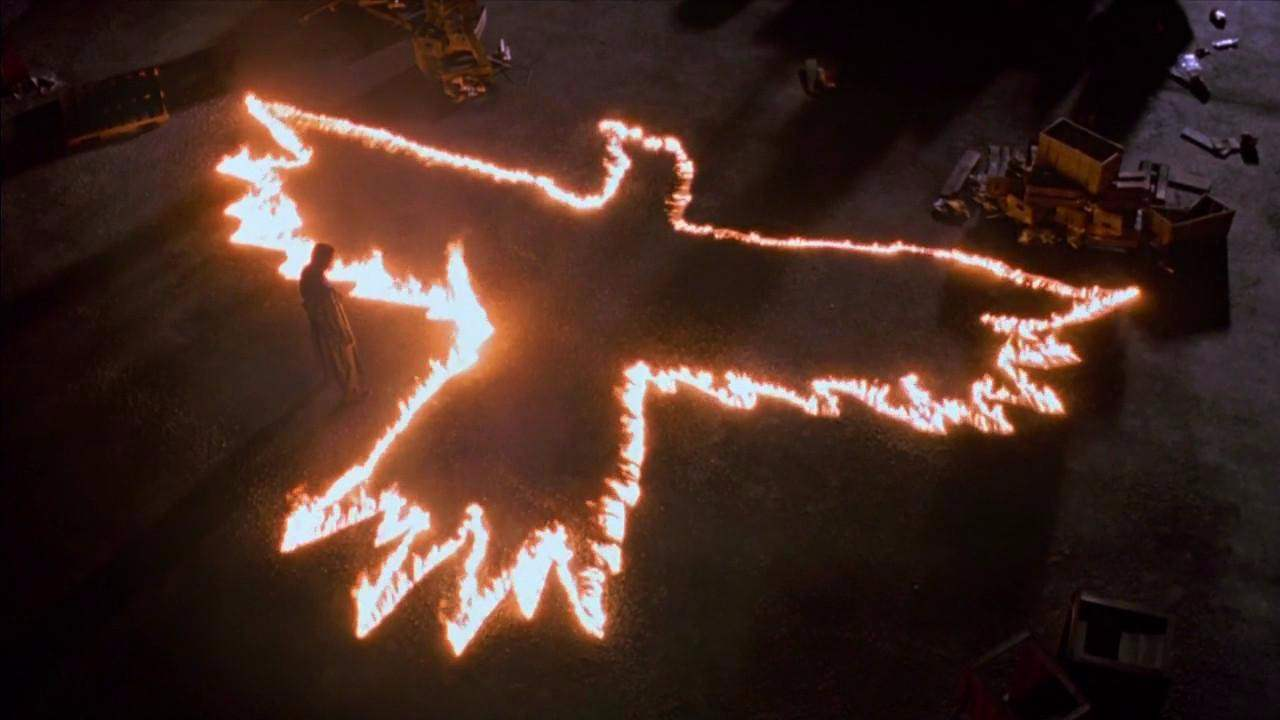 Eric leaves a message in The Crow