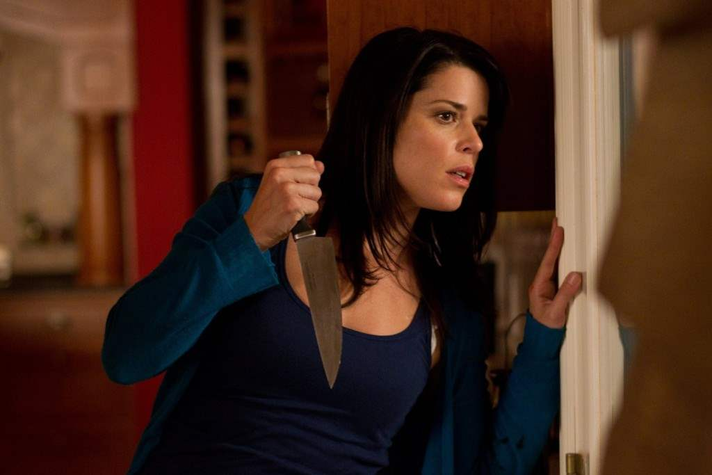 Neve Campbell as Sidney in Scream 4