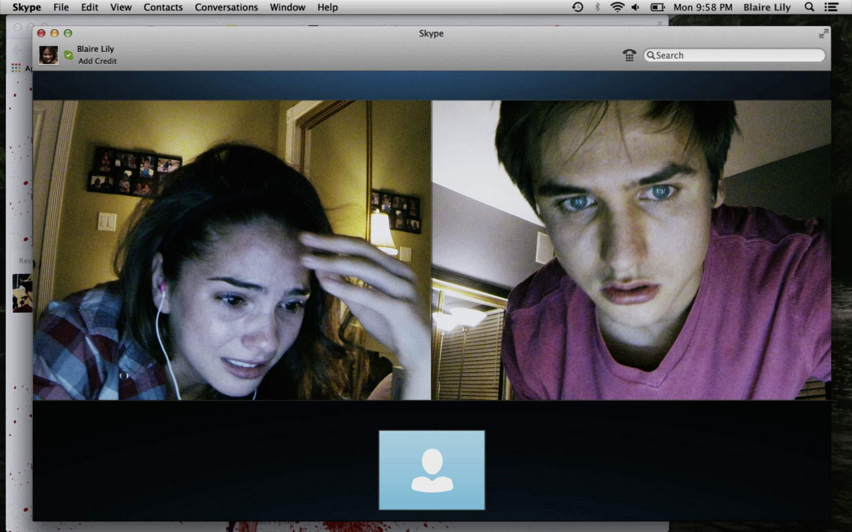 Shelley Hennig and Moses Storm in Unfriended