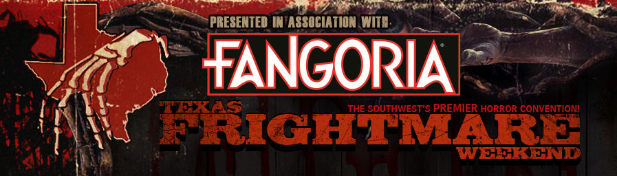 Logo for Texas Frightmare Weekend, sponsored by Fangoria Magazine