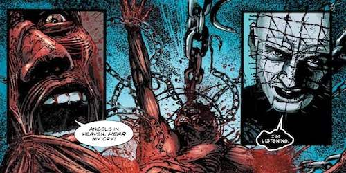 Hellraiser comic panels