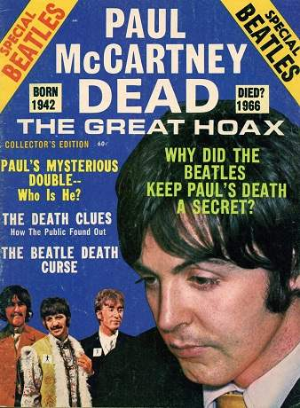 Cover image of the Paul is Dead magazine.