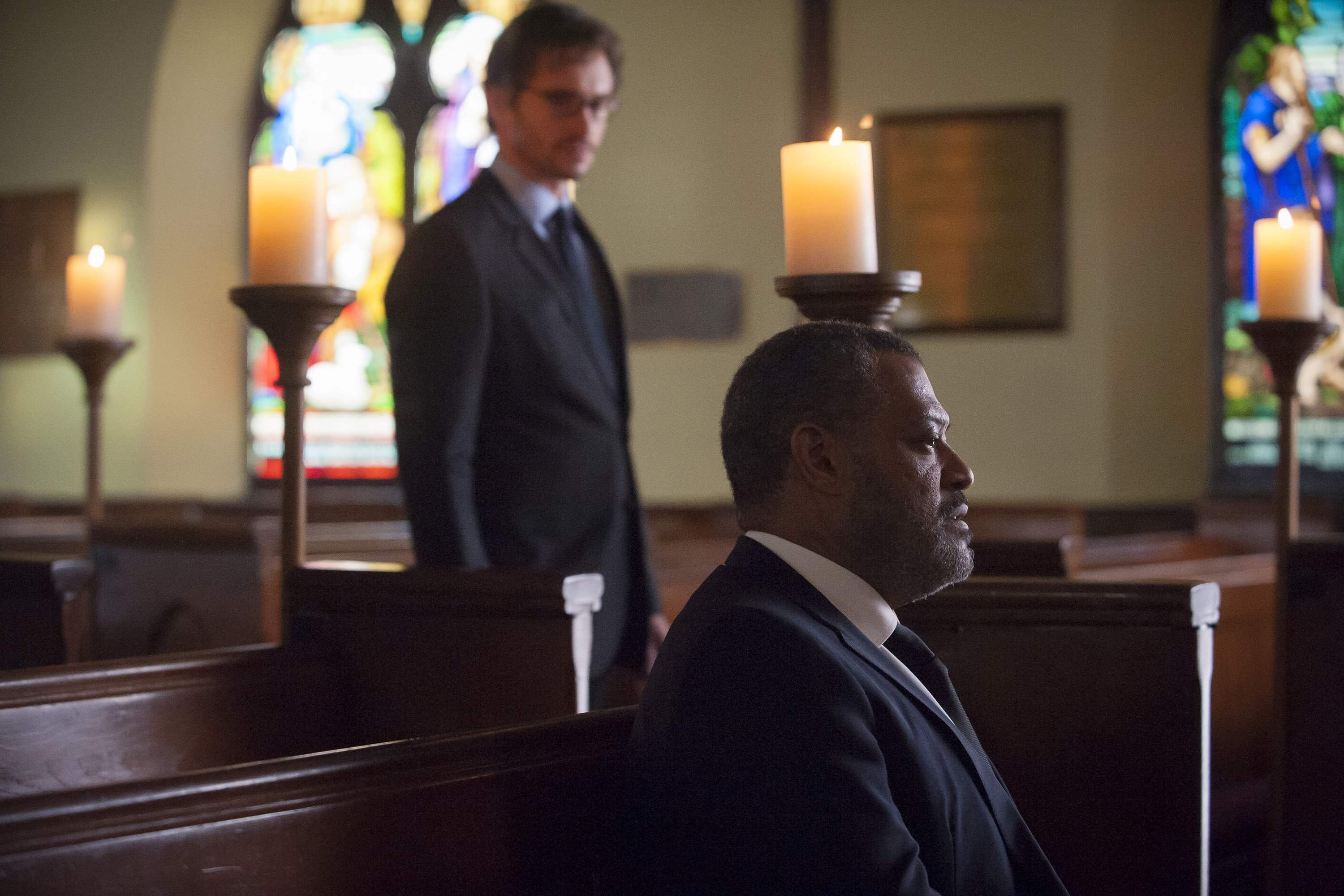 Will visits Jack in church after the death of his wife Bella