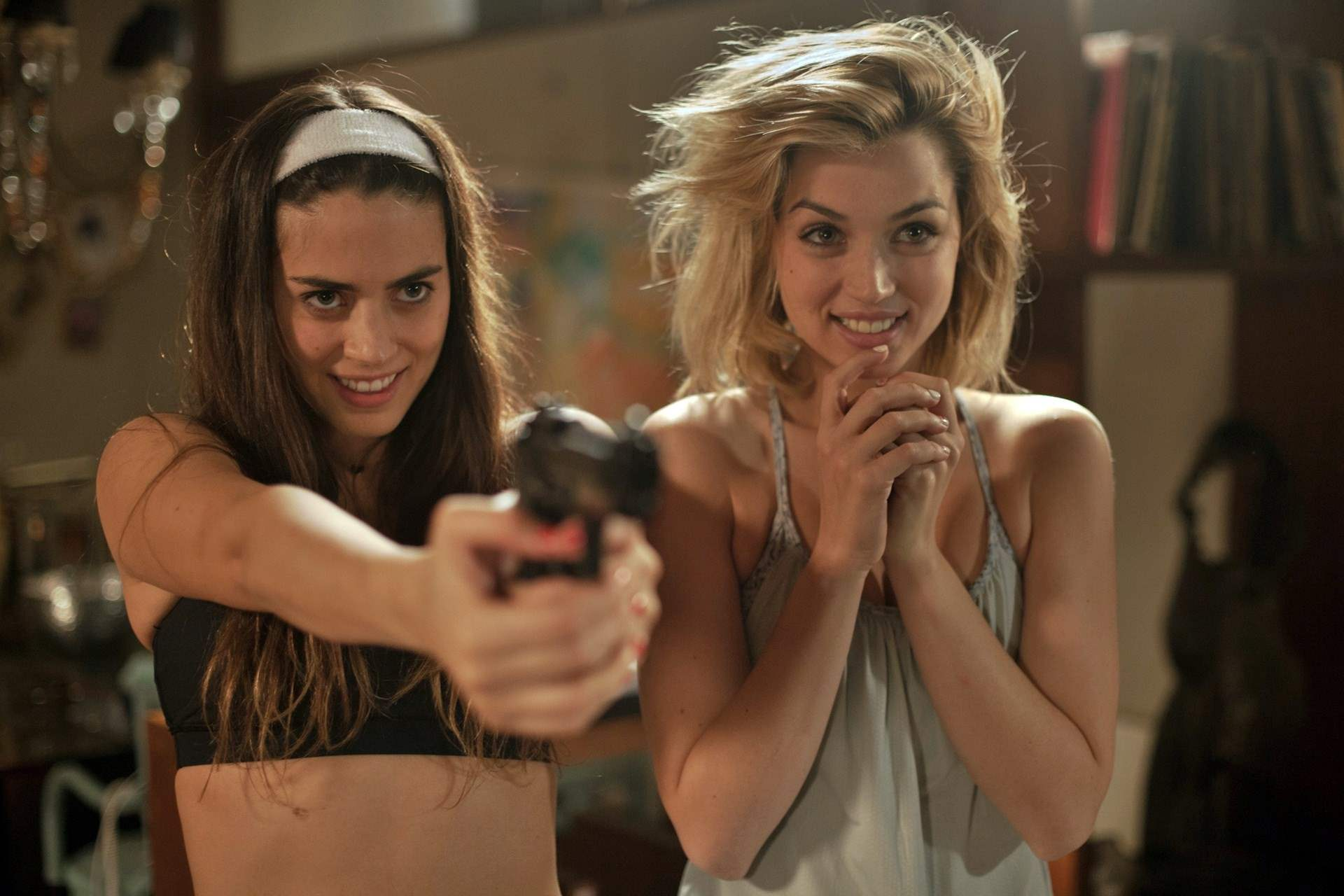 Lorenza Izzo and Ana De Armas in Knock Knock