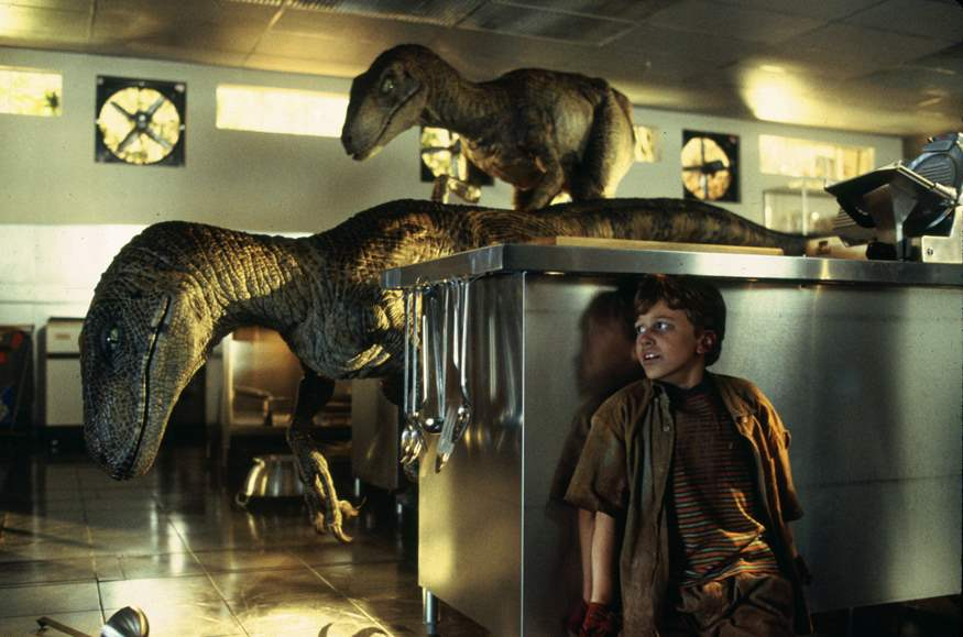 Raports and Joseph Mazzello in Jurassic Park