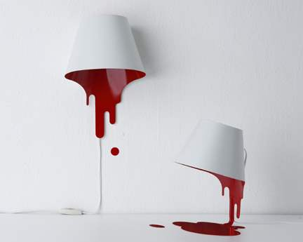 blood lamps perfect for reading those bloody novels.