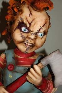chucky movie cake from the horror movie childs play.
