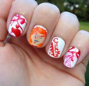 chucky aka childs play nail art.