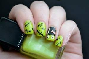 frankenstein-nail-art
