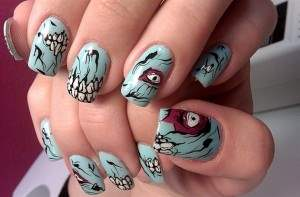 monster zombie nails