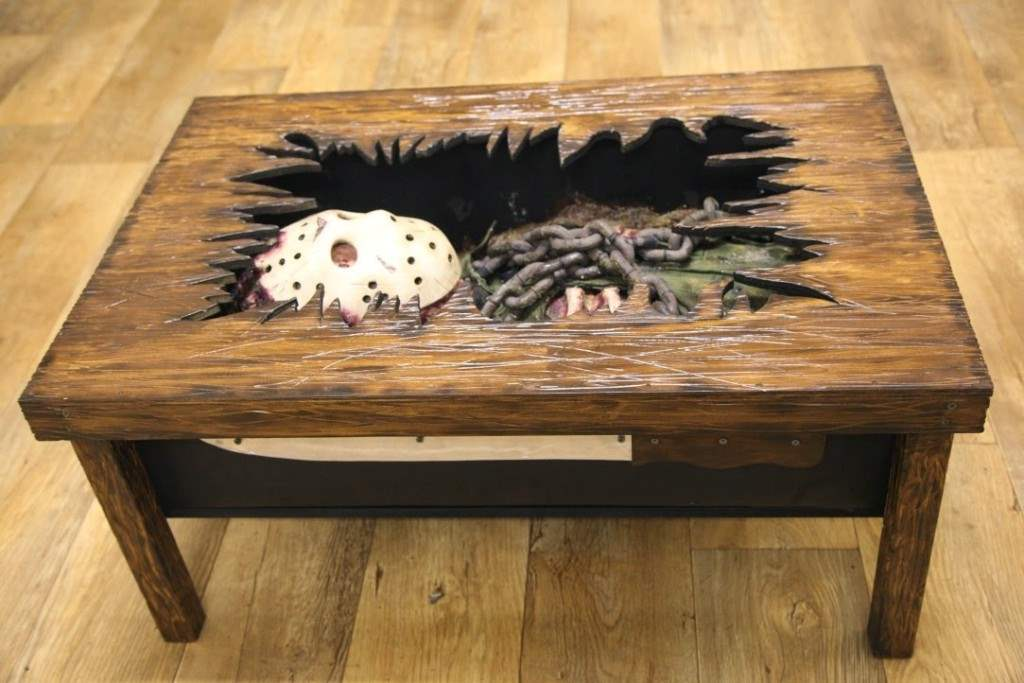 jason voorhees friday the 13th coffee table.