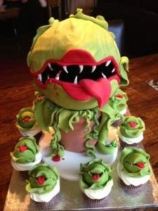 Little shop of horrors themed movie cake.