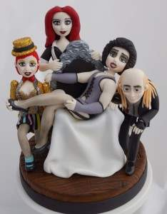 The rocky horror picture show themed cake.