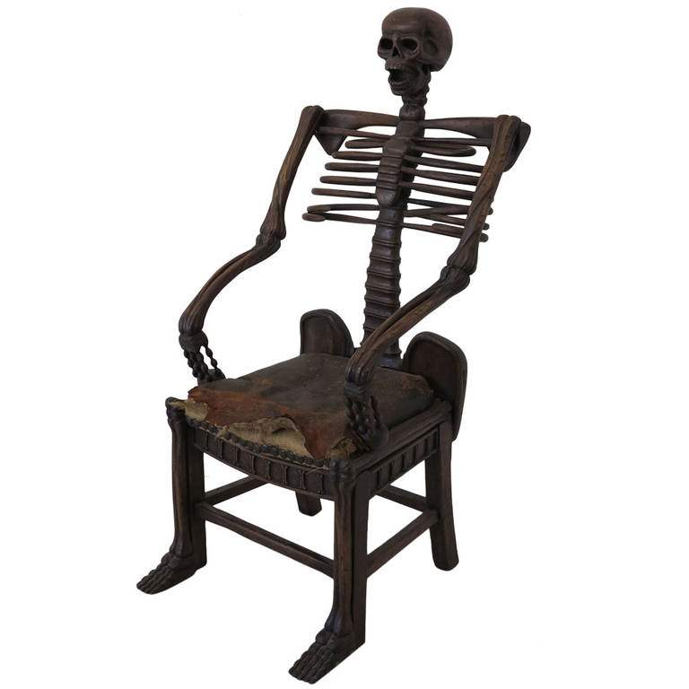 skeleton dining chair.