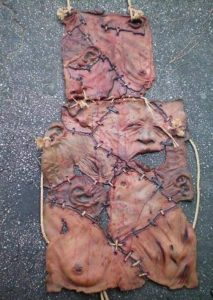 Human skin apron replica of edward gein.