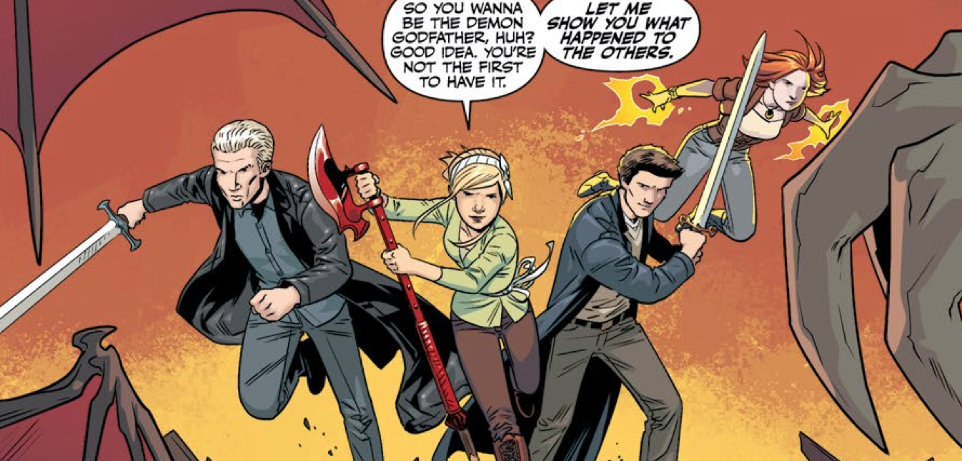 Buffy heads into battle in issue 17